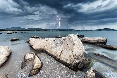Lightning Photograph - Thunderstorm  by Evgeni Dinev