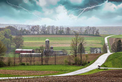 Photograph - Thunderstorm Over Farm by Rusty Glessner