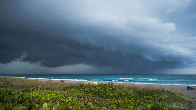 Photograph - Thunderstorm Rolls In Over Delray Beach Florida by Lawrence S Richardson Jr