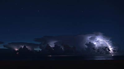 Photograph - Thunderstorms And Stars Delray Beach Florida by Lawrence S Richardson Jr