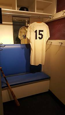 Photograph - New York Yankee Captian Thurman Munson 15 Locker by Rob Hans