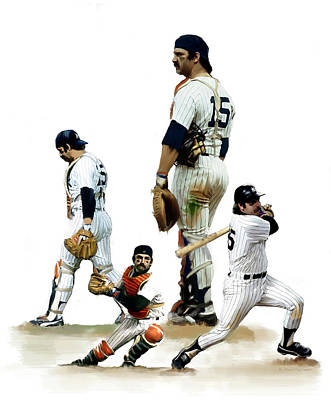 Painting - Thurman Munson  Inspiration by Iconic Images Art Gallery David Pucciarelli