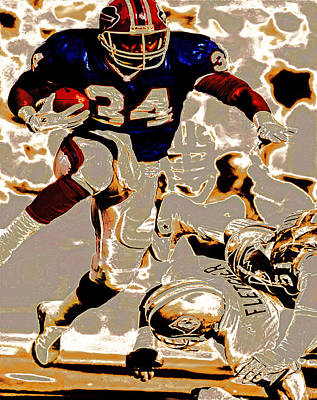 Ladainian Tomlinson Digital Art - Thurman Thomas Making Them Miss by Brian Reaves