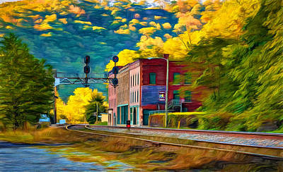 Thurmond Wall Art - Photograph - Thurmond West Virginia - Paint by Steve Harrington