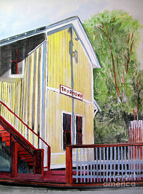 Painting - Thurmond Wv Train Station by Sandy McIntire