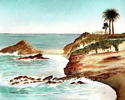 Laguna Beach Painting - Thursday At Laguna by Janice Sobien