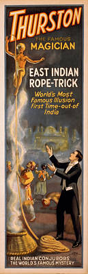 Fantasy Royalty-Free and Rights-Managed Images - Thurston East Indian Rope Trick by David Wagner