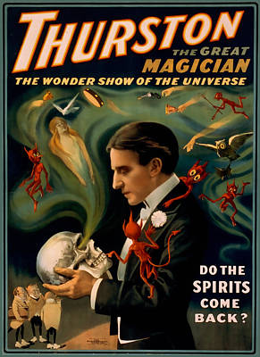 Thurston The Great Magician Art Print by David Wagner