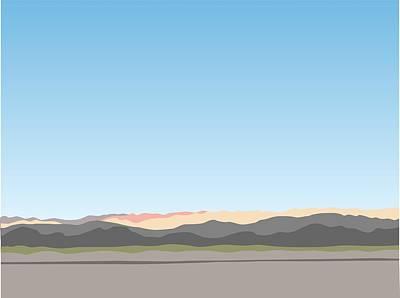 Digital Art - Thw Little San Bernardino Mountains by Stan  Magnan