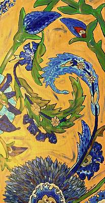 Painting - Ti Amo   Old Italian Tile by Dottie Phelps Visker