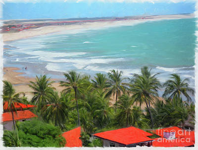 Digital Art - Tiabia, Brazil Beach by Dale Turner