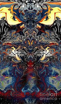 Psychedelic Digital Art - Tiamats Long Lost Cousin by J Huber