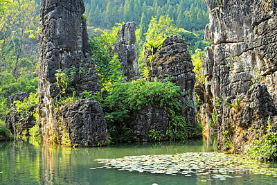 Photograph - Tian Xin Qiao Scenics Guizhou China by Charline Xia