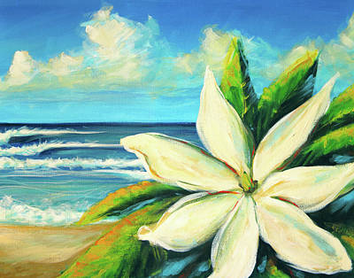 Gardenias Painting - Tiare by Hanako Hawaii