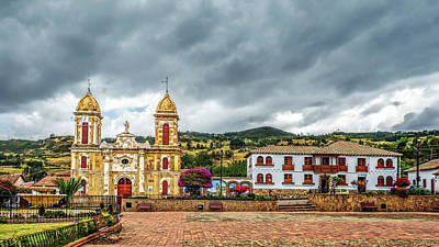 Photograph - Tibasosa's Main Square by Maria Coulson