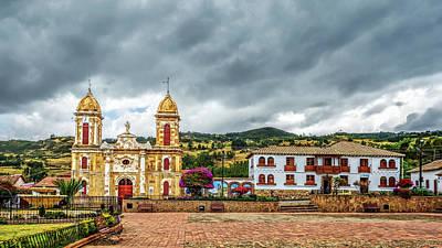 Photograph - Tibasosa's Main Square by Maria Coulson