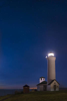 Art Print featuring the photograph Tibbets Point Light Night by Mark Papke