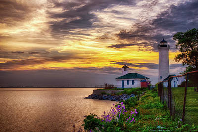 Photograph - Tibbets Point Sunset by Mark Papke
