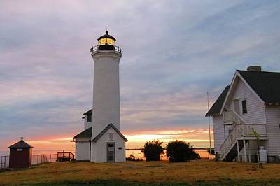 Photograph - Tibbetts Point Lighthouse, July Sunset by Dennis McCarthy