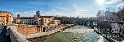 Tiber Island Wall Art - Photograph - Tiber Island In Rome by Frank Bach