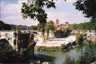 Tiber Island Wall Art - Photograph - Tiber Island Photograph by Kimberly Walker
