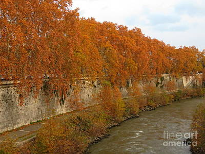 Photograph - Tiber River In Autumn 3 by Laurie Morgan