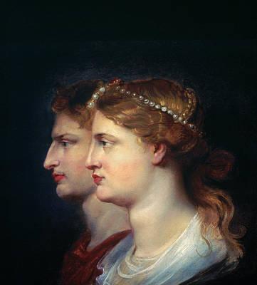 1st Century B.c Photograph - Tiberius & Agrippina by Granger