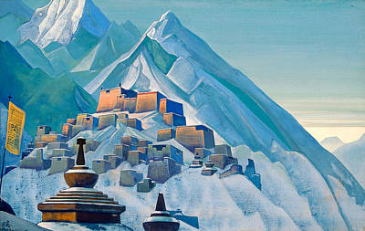 Blizzard Painting - Tibet, Himalayas by Nicholas Roerich
