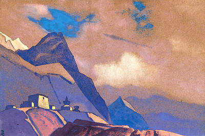 Blizzard Painting - Tibet, Near The Brahmaputra by Nicholas Roerich