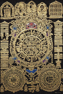 Photograph - Tibetan Astrological Diagram by Serge Averbukh