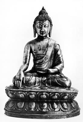 Tibetan Buddhism Photograph - Tibetan Buddha by Granger