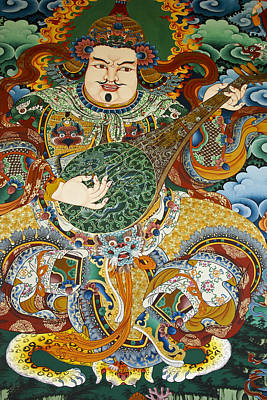 Tibetan Buddhism Photograph - Tibetan Buddhist Mural by Michele Burgess