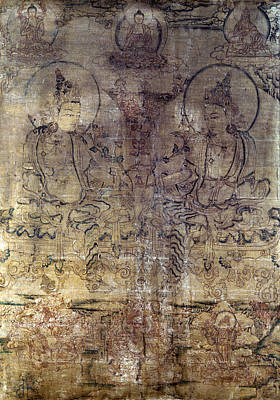 Tibetan Gouache Painting Art Print by Granger
