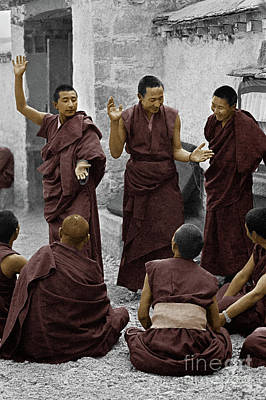 Photograph - Tibetan Monks Debating - Sera Monastery, Lhasa by Craig Lovell