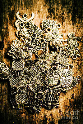 Tibetan Owl Charms Print by Jorgo Photography - Wall Art Gallery