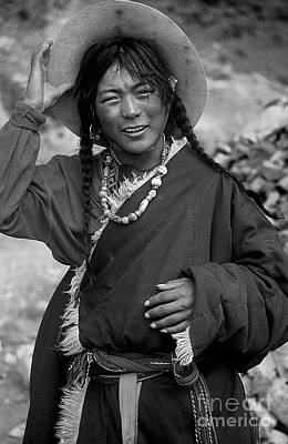 Photograph - Tibetan Pilgrim At Mount Kailash by Craig Lovell