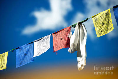 Photograph - Tibetan Prayer Flags by Yew Kwang