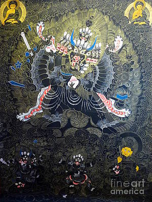 Thangka Painting - Tibetan Thangka by Birgit Moldenhauer
