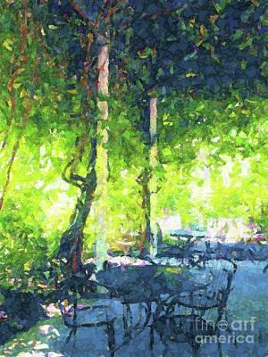Digital Art - Tibetantea Garden by Annie Gibbons
