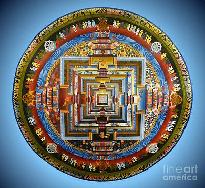 Buddhist Painting - Tibetian Mandala  by Birgit Moldenhauer