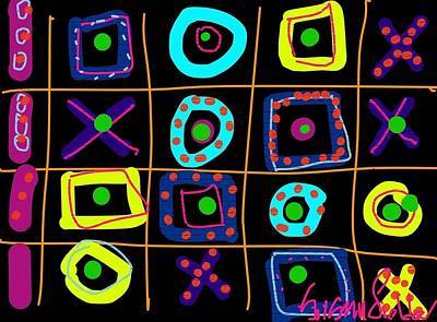 Digital Art - Tic Tac No by Susan Fielder