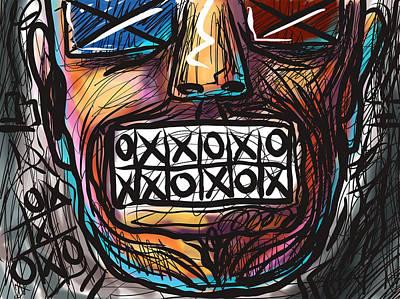 Digital Art - Tic Tac Toe Teeth by Joe Bloch