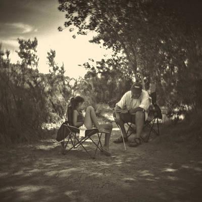 Childhood Photograph - Tic Tac Toe With Grandpa by Matthew Lit