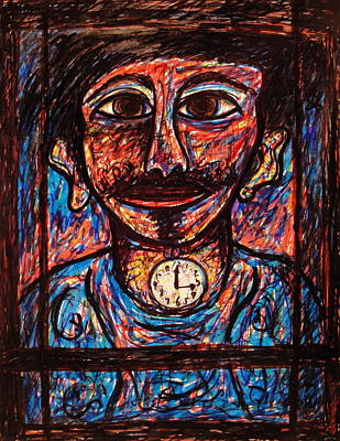 Clock Face Mixed Media - Tic Toc by Natalie Holland
