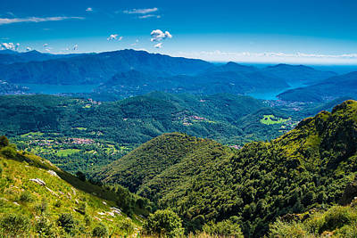 Photograph - Ticino Landscape With Lake Lugano by Matthias Hauser