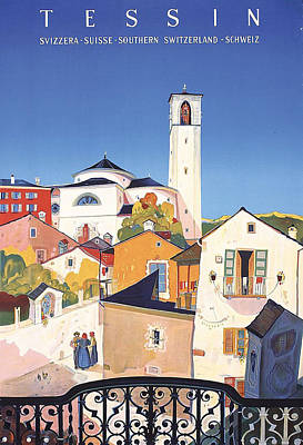 Southern Art Painting - Ticino, Tessin, Switzerland by Long Shot