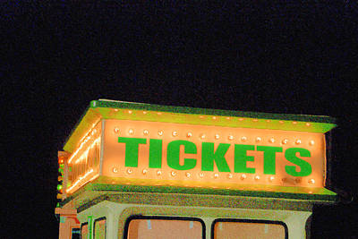 Photograph - Ticket Booth Lights by Margie Avellino