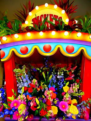 Digital Art - Ticket Booth Of Flowers by Ed Weidman