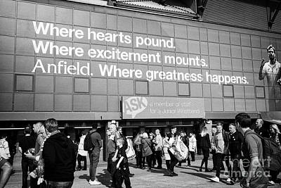 ticket collection point at Liverpool FC anfield stadium Liverpool Merseyside UK Art Print by Joe Fox