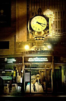 The Clock Photograph - Ticket Taker by Diana Angstadt